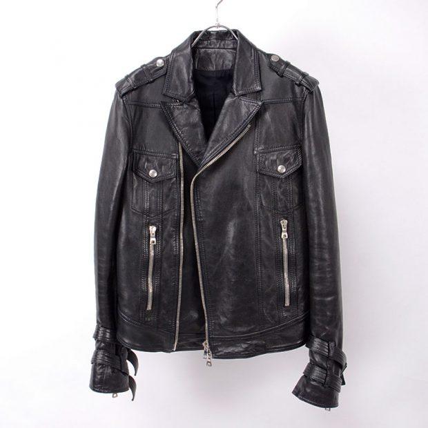 【13AW】Leather biker jacket/レザーバイカーライダースジャケット