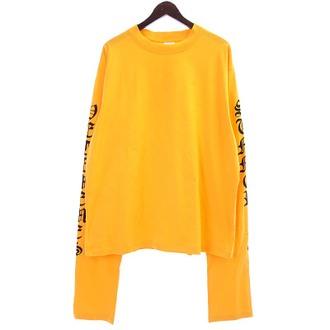 VETEMEMES Orange Long Sleeve Shirt ロングスリーブカットソー お買い取りさせて頂きました!!!