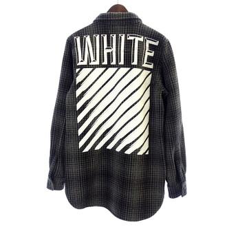 オフホワイト/OFF WHITE 15AW バック バイアス プリント ウール チェック シャツ  お買取りさせて頂きました!!!