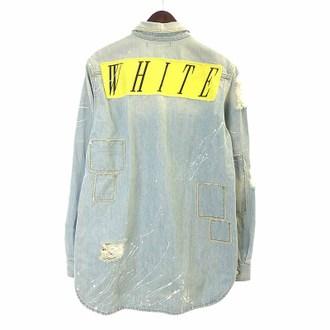 オフホワイト/OFF WHITE 15SS クラッシュ リペア ペイント加工 デニムジャケット お買取実績