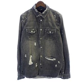 ロンハーマン/RONHERMAN 17AW ×ksubi ダメージ リペア 加工 デニムシャツ ジャケット お買取実績