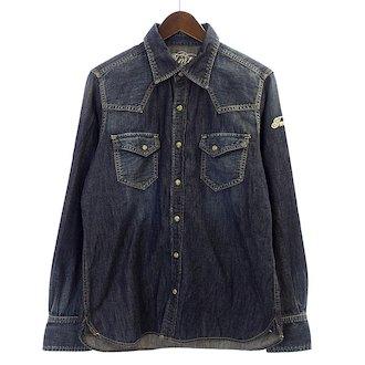 ティーエムティー/TMT  15SS 袖ロゴ刺繍 スナップボタン デニム ウエスタン 長袖 シャツ  買取参考価格 2.000円前後