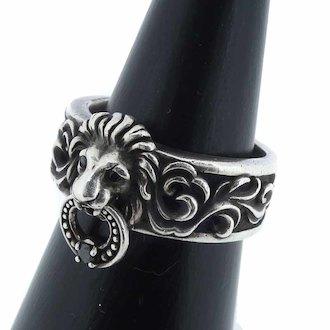 ジャスティンデイヴィス/JUSTIN DAVIS SRJ522 Lion Keeper Ring ライオン キーパーリング 買取参考価格 4,000~5,000円前後