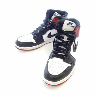 ナイキ/NIKE Air Jordan 1 Retro High OG Black Toe つま黒 ¥20000~¥25000