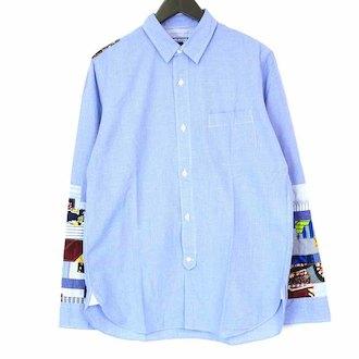 ジュンヤワタナベマン/JUNYA WATANABE MAN AD2015 パッチワーク 長袖 シャツ 買取参考価格8,000~10,000円前後