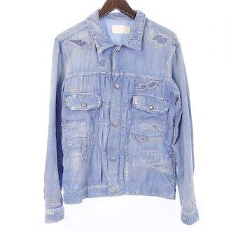 リサウンドクロージング/RESOUND CLOTHING コンチョ ボタン コーデュロイ リペア デニムジャケット 参考買取価格5.000~10.000円前後