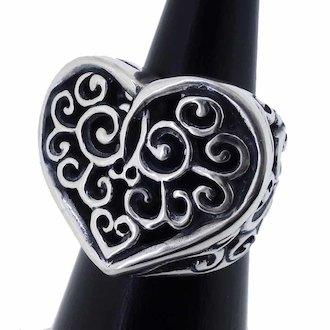 BILL WALL LEATHER Heart Ring トライバルハート リング 参考買取価格5千から8千前後