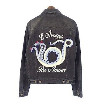 グッチ/GUCCI Laveugle par Amour エンブロイダリー ドラゴンデニムジャケット 参考買取価格80.000~100.000円前後