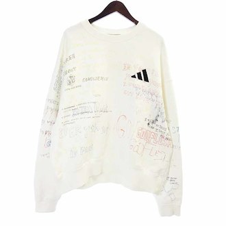 イージー/YEEZY SEASON 5 17AW HANDWRITING ADIDAS CREWNECK 参考買取価格15.000円前後