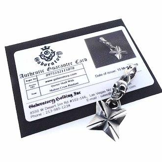 ガボラトリー/GABORATORY Maltese Cross Pendant スカル カスタム クロス ペンダント 参考買取価格15.000~20.000円前後