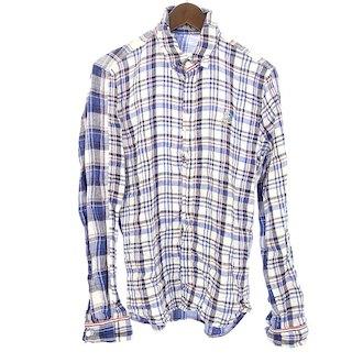 フランシストモークス/FRANCIST_MOR.K.S ハイビスカルスワロ リネンチェックフックシャツ参考買取価格3.000~4.000円前後