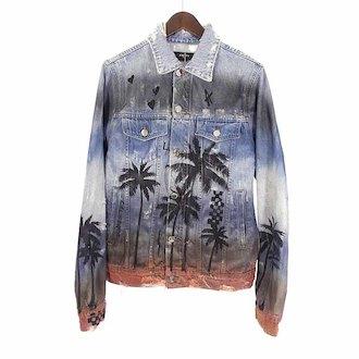 アミリ/AMIRI 著名人 着用 18SS Palm Denim Trucker jacket 参考買取価格80.000~100.000円前後