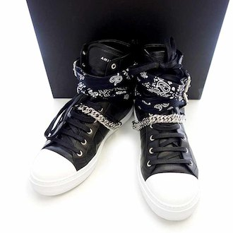 アミリ/AMIRI Sunset Bandana Black Leather Sneakers スニーカー 参考買取価格50.000~60.000円前後