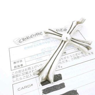 クロムハーツ/CHROME HEARTS Wベイル ラージクロス ペンダント トップネックレス 買取参考金額¥25000から¥35000前後