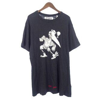 オフホワイト/OFF WHITE 16AW Othello Stork Tee バードプリントバックロゴTシャツ 買取参考金額5.000円~10.000円前後