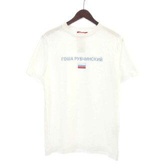 ゴーシャラブチンスキー/GOSHA RUBCHINSKIY 16SS LOGO TEE ロゴ プリントTシャツ