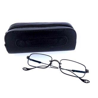 クロムハーツ/CHROME HEARTS SKIDDER マットブラック スクエアフレーム眼鏡 買取参考金額は 25.000円前後
