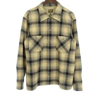 テンダーロイン/TENDERLOIN 08AW T-WOOL SHT BEIGE ウールチェック シャツ買取参考金額20.000~25.000円前後