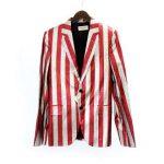 サンローランパリ/SAINT LAURENT PARIS 15SS ポールストライプ柄2Bジャケット 買取参考金額は 20.000~25.000円前後