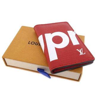 ルイヴィトン/LOUIS VUITTON ×SUPREME Pocket Organizer エピ オーガナイザー カードケース買取参考金額は50.000~60.000円前後