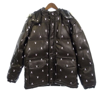 シュプリーム/SUPREME ×Playboy 15AW Leather Puffy Jacket ダウンジャケット 参考買取価格 \50.000前後