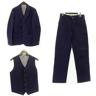 テンダーロイン/TENDERLOIN ×The Stylist Japan 14SS 3Pワッフルセットアップスーツ買取参考金額20.000~30.000円前後