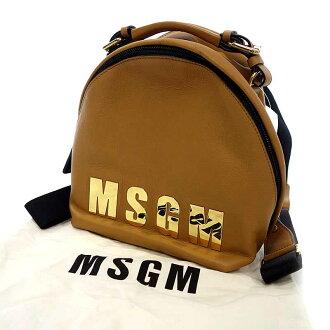 エムエスジーエム/MSGM ロゴゴールドプレートレザーミニリュック  参考買取価3.000~5.000円