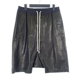 リックオウエンス/RICK OWENS 14AW drop crotch shorts レザー ショーツ ハーフパンツ参考買取価格25.000~35.000円前後