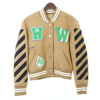 オフホワイト/OFF WHITE 15AW Letterman Jacket レターマン スタジャンジャケット買取参考金額は 30.000~40.000円前後