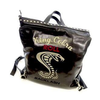 バックラッシュ/BACKLASH ROLL KING COBLA 刺繍 スタッズ ホースレザー 3WAY買取参考金額は15.000~20.000円前後