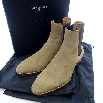 サンローランパリ/SAINT LAURENT PARIS クラシック ワイヤット チェルシー サイドゴア スウェード レザー ブーツ買取価格 30.000~40.000