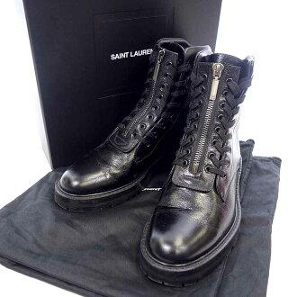 サンローランパリ/SAINT LAURENT PARIS フロントジップ レースアップ ブーツ買取参考金額25.000~35.000円前後