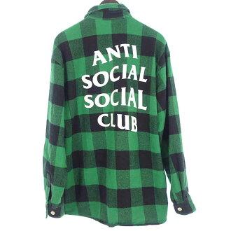 アンチソーシャルソーシャルクラブ/ANTI SOCICAL SOCICAL CLAB バックロゴ チェックシャツ買取参考金額5,000~6,000円前後