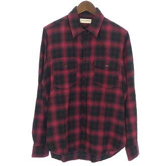 サンローランパリ/SAINT LAURENT PARIS 407723 16AW オンブレチェックシャツ 買取参考金額10,000~20,000円前後
