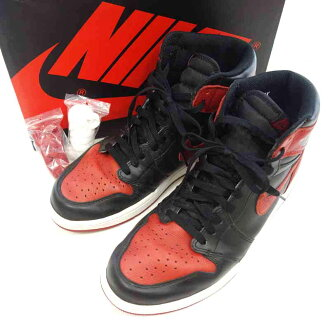 ナイキ/NIKE AIR JORDAN 1 RETRO HIGH OG BANNED BRED買取参考金額は 20.000~25.000円前後