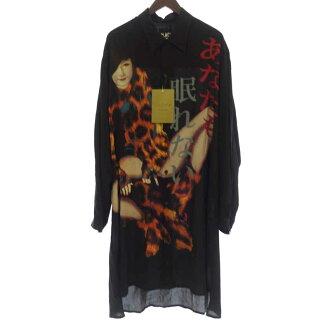 ヨウジヤマモト/YOHJI YAMAMOTO 19SS BLACK Scandal あなたも眠れない レーヨン ロングシャツ 買取参考金額は35,000~45,000円前後