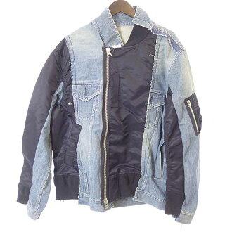 サカイ/SACAI 19SS Denim Jacket MA-1 ドッキングデニムジャケット 買取参考金額50,000~60,000円前後