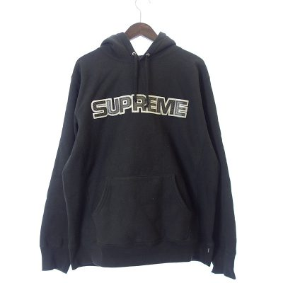 シュプリーム/SUPREME 18AW Perforated Leather Hooded Sweatshir参考買取価格12000~15000円前後