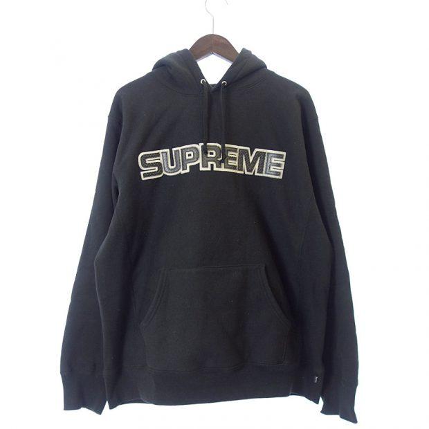 シュプリーム/SUPREME 18AW Perforated Leather Hooded Sweatshir参考買取価格12000~15000円前後