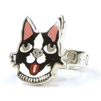 グッチ/GUCCI BOSCOORSO ボストンテリア 犬 リング 指輪  買取参考金額は 15000円前後
