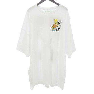 オフホワイト/OFF WHITE OMAA066S19185034 19SS bart peace Tシャツ