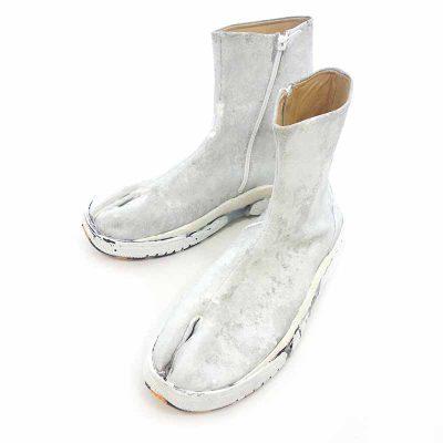 メゾンマルジェラ/MAISON MARGIELA 18AW Painted Fusion Tabi Sneaker ペンキ加工 ブーツ 買取参考金額25000~35000円前後