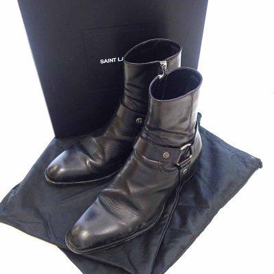 サンローランパリ/SAINT LAURENT PARIS 18AW クラシック ワイアット ハーネス リング レザー ブーツ  買取参考金額 30000~40000 円前後
