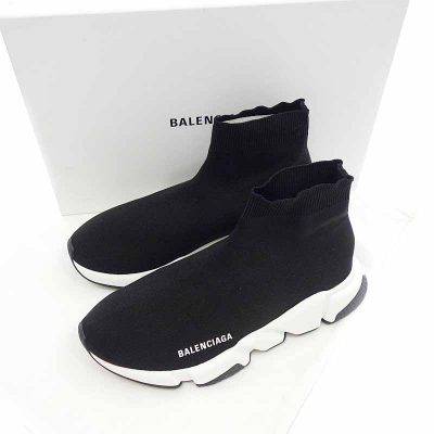バレンシアガ/BALENCIAGA 18AW Speed Trainer Cuffed Sneaker参考買取価格25000~30000