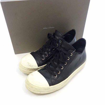 リックオウエンス/RICK OWENS 16SS RAMONS Low Sneaker ラモーンズ レザー ローカット 参考買取価格1.2万から1.5万前後