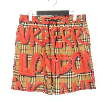 バーバリー/BURBERRY 18AW Graffiti Print Vintage Check Swim pants