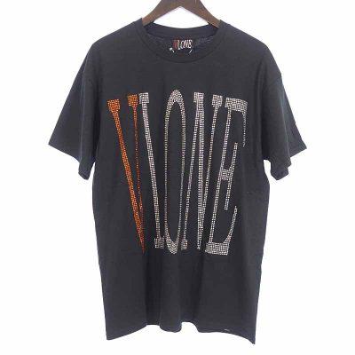 ヴィーローン/VLONE  18SS RHINE STONE LOGO TEE ラインストーン ロゴ 半袖 Tシャツ