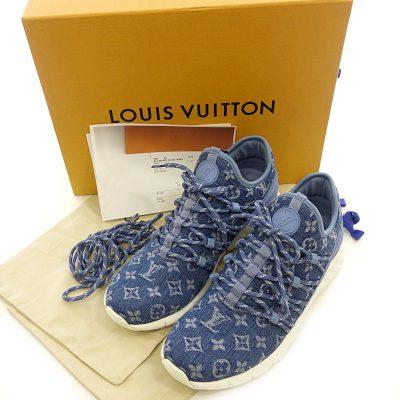 ルイヴィトン/LOUIS VUITTON 1A45UN モノグラム デニム ファストレーン ライン スニーカー  買取参考金 30000~40000円前後