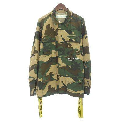 オフホワイト/OFF WHITE 18AW Camouflage Field Jacket カモ カモフラージュジャケット 買取参考金額20,000~30,000円前後