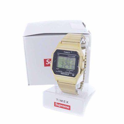 シュプリーム/SUPREME 19AW Timex Digital WatchGold タイメックス 買取参考金額20,000~25,000円前後